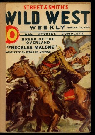 Wild West Weekly - 02/19/38 - Condition: FA - Street & Smith