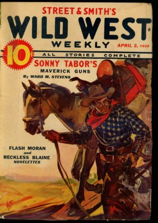 Wild West Weekly - 04/02/38 - Condition: G-VG - Street & Smith