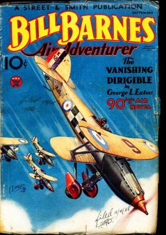 Bill Barnes Air Adventurer - 09/34 - Condition: VG - Street & Smith Publications