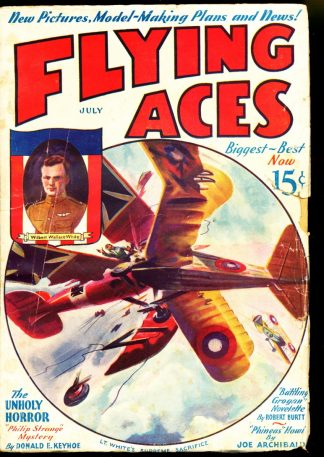 Flying Aces - 07/33 - Condition: G-VG - Magazine Publishers, Inc.