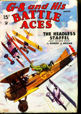 G-8 And His Battle Aces - 08/35 - Condition: FN - Popular Publications, Inc.