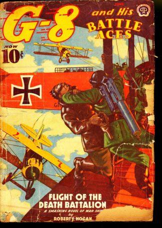 G-8 And His Battle Aces - 06/39 - Condition: PR - Popular Publications, Inc.