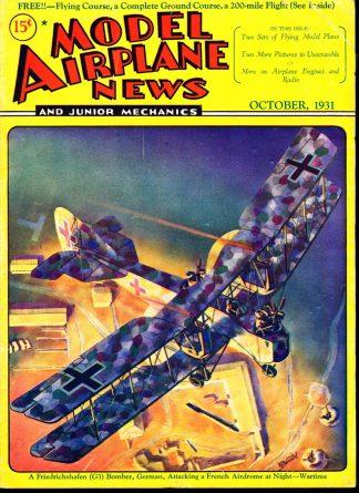 Model Airplane News - 10/31 - Condition: G-VG - Good Story Magazine Co., Inc.