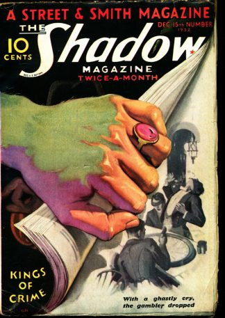 Shadow Magazine - 12/15/32 - Condition: VG-FN - Street & Smith Publications