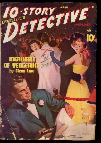 10-Story Detective Magazine - 04/46 - Condition: G-VG - Ace