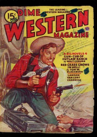Dime Western Magazine - 04/46 - Condition: G-VG - Popular