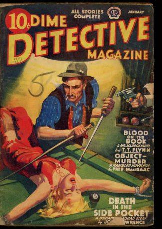 Dime Detective Magazine - 01/40 - Condition: G - Popular
