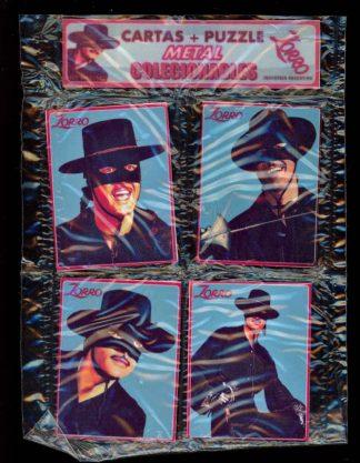 Zorro Metal Puzzle – Guy Williams - 4 PCS - -/- - FN - 83-45488
